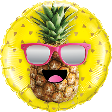 Mr. Cool Pineapple Foil Round 18in/45cm