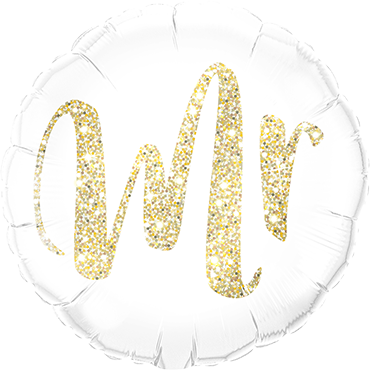 Mr Glitter Gold Foil Round 18in/45cm