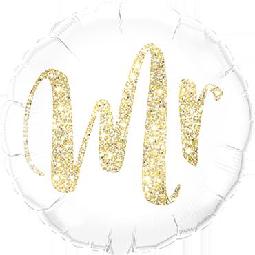 Mr Glitter Gold Foil Round 18in/45cm