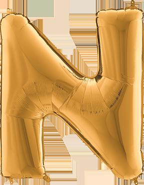 N Gold Foil Letter 7in/18cm