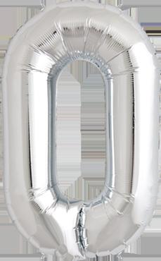 O Silver Foil Letter 34in/86cm