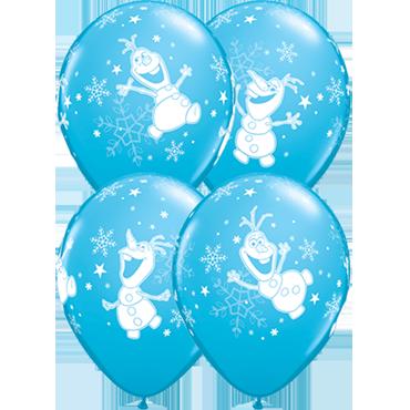 Olaf Dancing Fashion Robins Egg Blue Latex Round 11in/27.5cm
