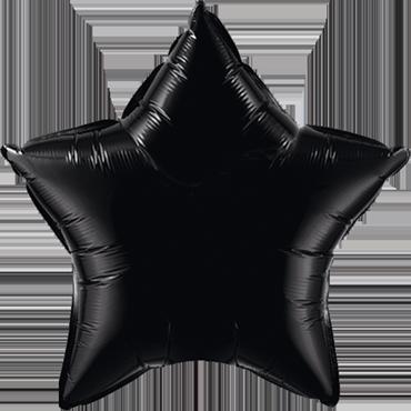 Onyx Black Foil Star 20in/50cm
