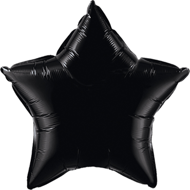 Onyx Black Foil Star 4in/10cm