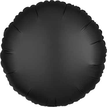 Onyx Satin Luxe Foil Round 17in/43cm