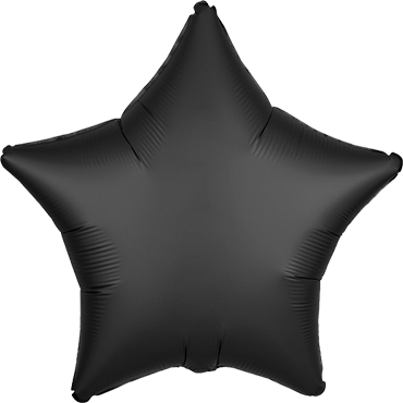 Onyx Satin Luxe Foil Star 17in/43cm
