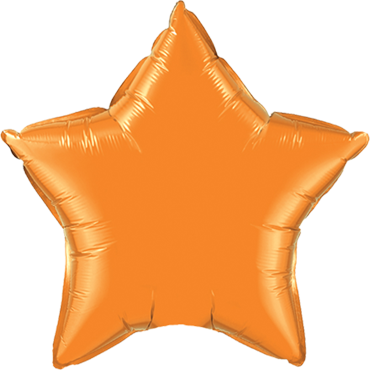 Orange Foil Star 20in/50cm