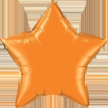 Orange Foil Star 20in/50cm