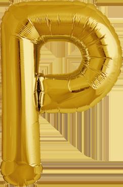 P Gold Foil Letter 34in/86cm