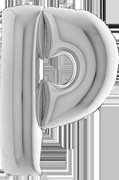 P Silver Foil Letter 7in/18cm