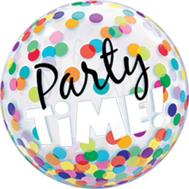 Party Time! Colourful Dots Single Bubble 22in/55cm
