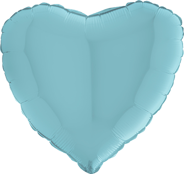Pastel Blue Foil Heart 24in/60cm