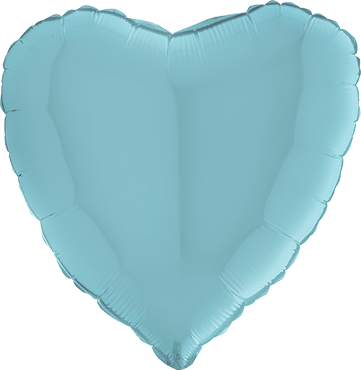 Pastel Blue Foil Heart 36in/90cm