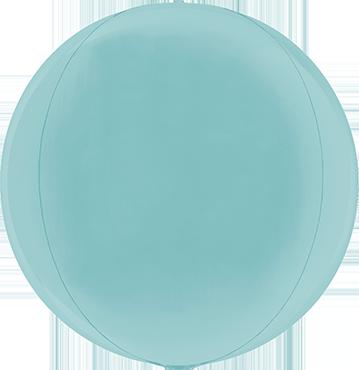 Pastel Blue Globe 15in/38cm