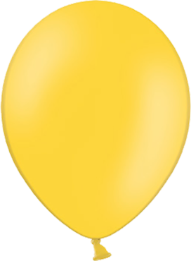 Pastel Bright Yellow Latex Round 11in/27.5cm