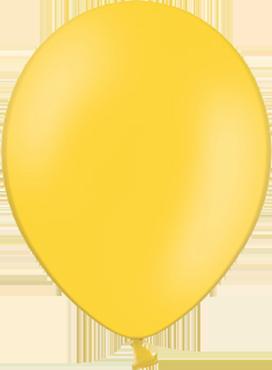 Pastel Bright Yellow Latex Round 5in/12.5cm