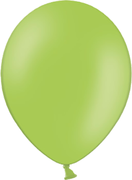 Pastel Lime Green Latex Round 11in/27.5cm
