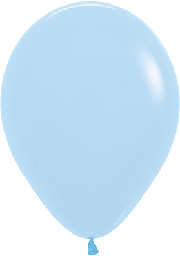 Pastel Matte Blue Latex Round 11in/27.5cm