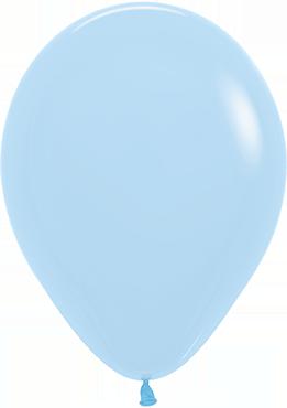 Pastel Matte Blue Latex Round 5in/12.5cm