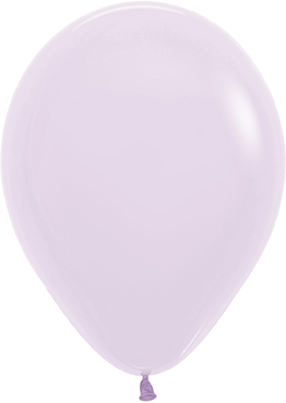 Pastel Matte Lilac Latex Round 5in/12.5cm