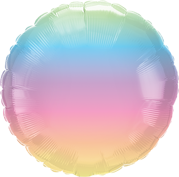 Pastel Ombre Foil Round 18in/45cm