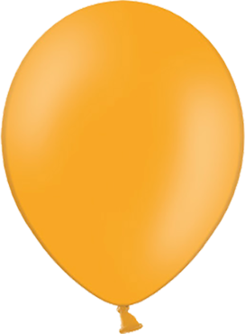 Pastel Orange Latex Round 5in/12.5cm