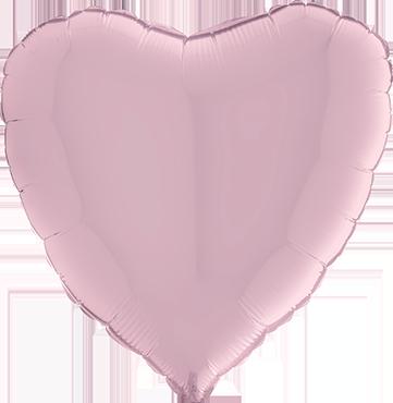 Pastel Pink Foil Heart 18in/45cm