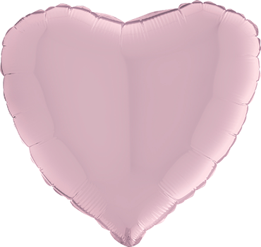 Pastel Pink Foil Heart 24in/60cm