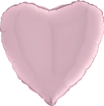 Pastel Pink Foil Heart 36in/90cm
