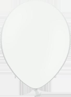 Pastel White Latex Round 5in/12.5cm