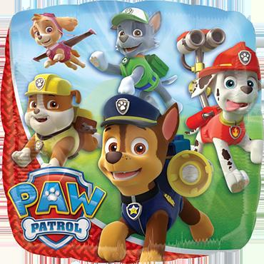 Paw Patrol Foil Square 18in/45cm