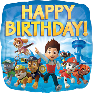 Paw Patrol Happy Birthday Foil Square 18in/45cm