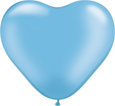 Pearl Azure Latex Heart 6in/15cm