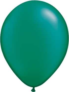 Pearl Emerald Green Latex Round 16in/40cm