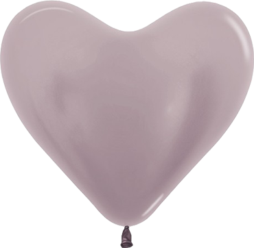 Pearl Greige Latex Heart 14in/36cm