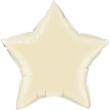 Pearl Ivory Foil Star 20in/50cm