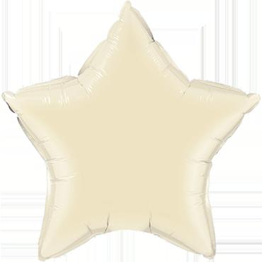 Pearl Ivory Foil Star 20in/50cm