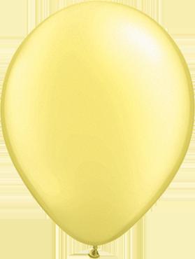 Pearl Lemon Chiffon Latex Round 11in/27.5cm