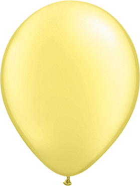 Pearl Lemon Chiffon Latex Round 16in/40cm