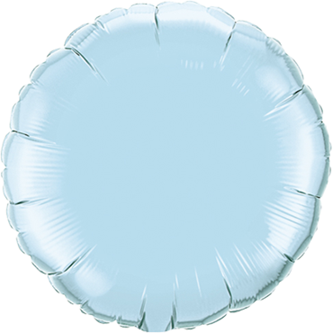 Pearl Light Blue Foil Round 18in/45cm