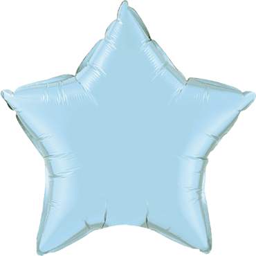Pearl Light Blue Foil Star 20in/50cm