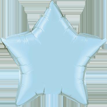 Pearl Light Blue Foil Star 20in/50cm