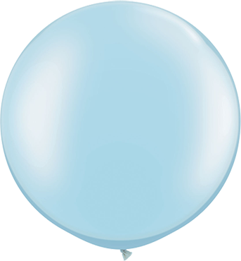 Pearl Light Blue Latex Round 30in/75cm