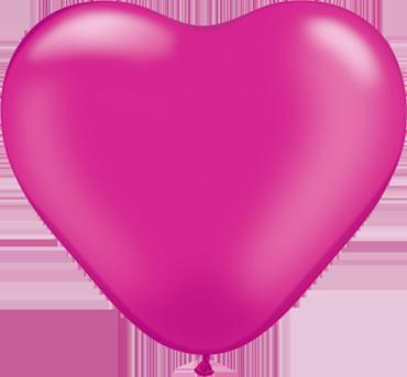 Pearl Magenta Latex Heart 6in/15cm