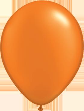 Pearl Mandarin Orange Latex Round 5in/12.5cm