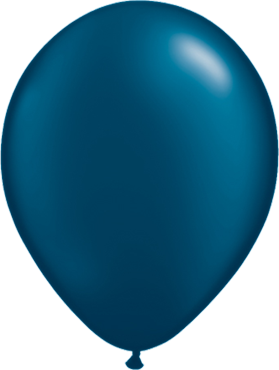 Pearl Midnight Blue Latex Round 11in/27.5cm