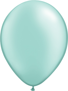 Pearl Mint Green Latex Round 5in/12.5cm