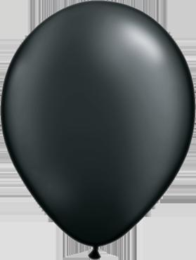 Pearl Onyx Black Latex Round 11in/27.5cm