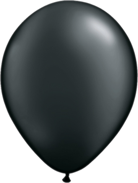 Pearl Onyx Black Latex Round 5in/12.5cm