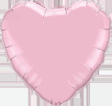 Pearl Pink Foil Heart 9in/22.5cm